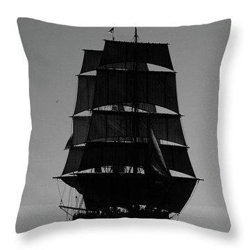 Back Lit Tall Ship Throw Pillow