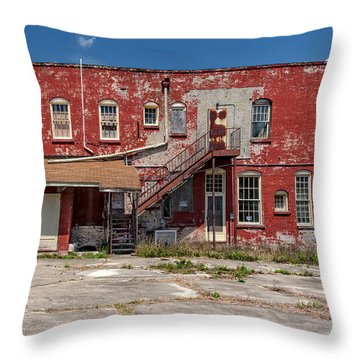 Throw Pillow featuring the photograph Back Lot by Christopher Holmes