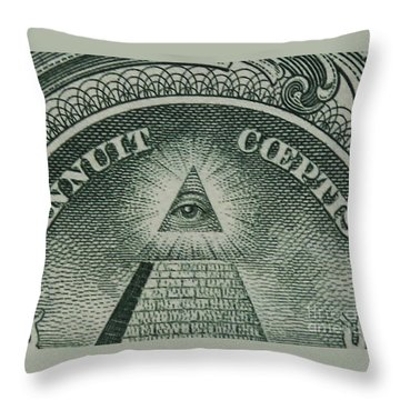 Back Of 1 Dollar Bill Throw Pillow
