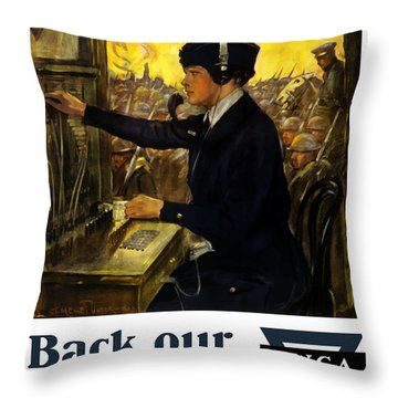 Back Our Girls Over There Throw Pillow