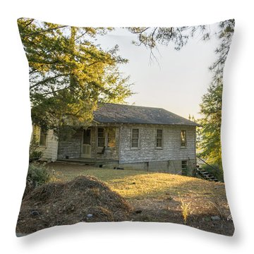Back Porch Sunset Throw Pillow