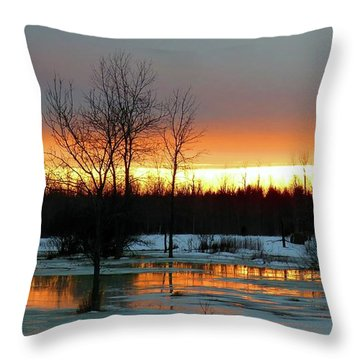 Back Roads Of Clayton Throw Pillow
