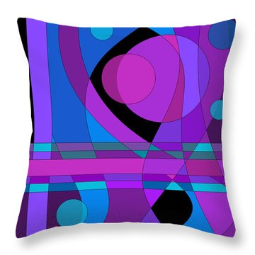 Back Room Blues Two Throw Pillow
