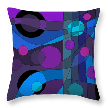Back Room Blues Throw Pillow