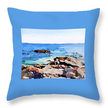Back Shore, Gloucester, Ma Throw Pillow