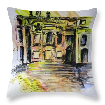 Back Side Basilca St Mary Major Throw Pillow