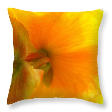 Back Side Throw Pillow