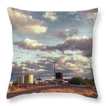 Back Side Of Water Tower, Arizona. Throw Pillow
