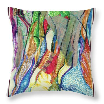 The Gathering Throw Pillow by Ruth Renshaw