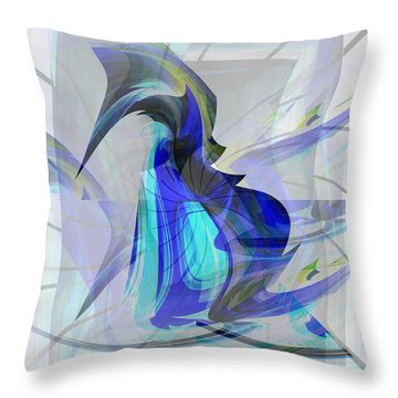 Back To Life 3 Throw Pillow by Thibault Toussaint