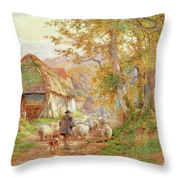 Back To The Fold Throw Pillow by Charles James Adams