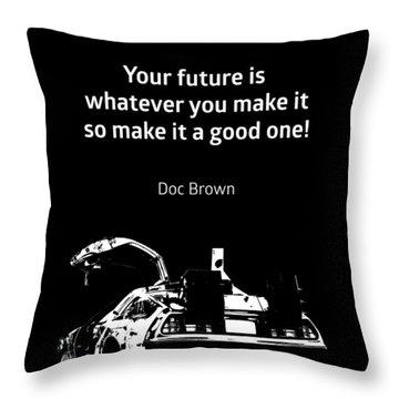 Back To Black Throw Pillows