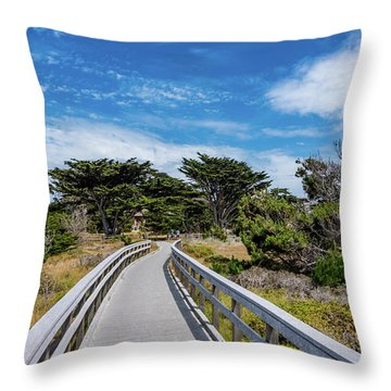Back To The Grounds Throw Pillow