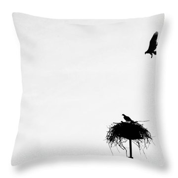 Back To The Nest Throw Pillow