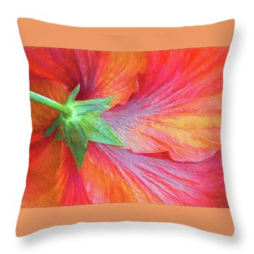 Back View Of A Giant Hibiscus Throw Pillow