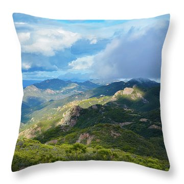 Backbone Trail Santa Monica Mountains Throw Pillow