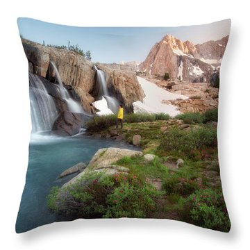 Backcountry Views Throw Pillow by Nicki Frates