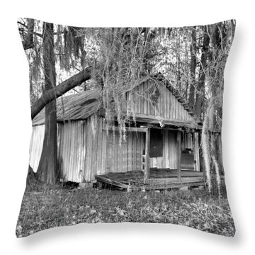 Backdoor Fishing Throw Pillow