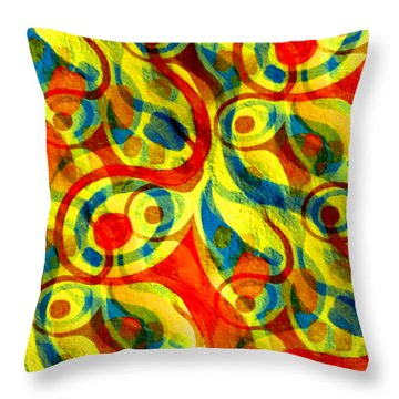 Background Choice Coffee Time Abstract Throw Pillow