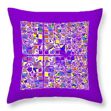Background Choice Squares Throw Pillow