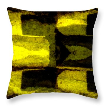 Colour Choice Stone Abstract Throw Pillow
