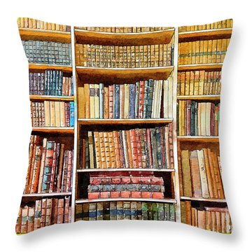 Background From Old Books Throw Pillow