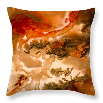 Backlit Agate 2 Throw Pillow