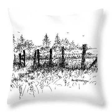 Backlit Fence Throw Pillow