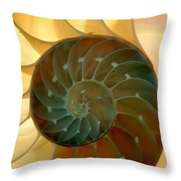 Backlit Nautilus Throw Pillow