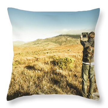 Backpacking Wonders Throw Pillow