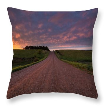 Throw Pillow featuring the photograph Backroad To Heaven  by Aaron J Groen