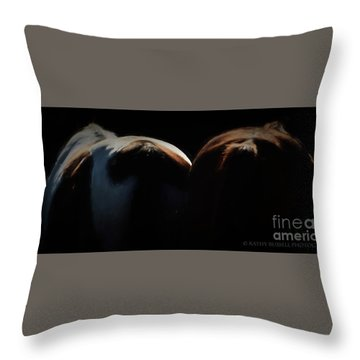 Backsides Throw Pillow