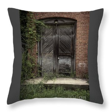 Backstreet Entrance Throw Pillow