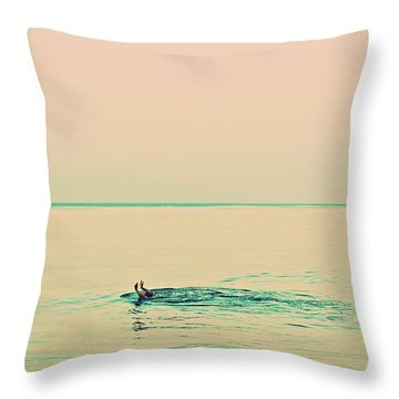Backstroke Throw Pillow