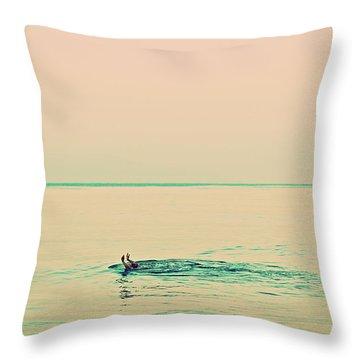 Backstroke Throw Pillow