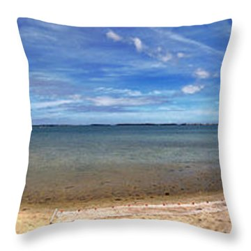 Throw Pillow featuring the photograph Backwater Bay Pano by T Brian Jones