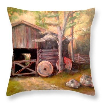 Backwoods Barn Throw Pillow