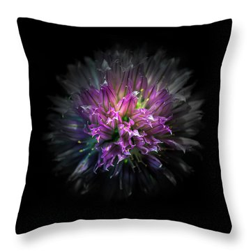 Throw Pillow featuring the photograph Backyard Flowers 53 Color Version by Brian Carson