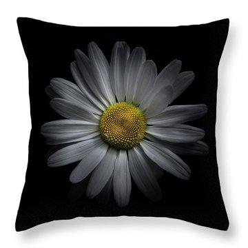 Backyard Flowers 60 Color Version Throw Pillow