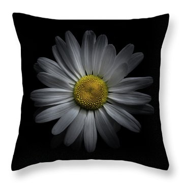 Backyard Flowers 60 Color Version Throw Pillow