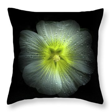 Backyard Flowers 62 Color Version Throw Pillow