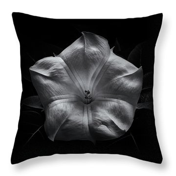 Throw Pillow featuring the photograph Backyard Flowers In Black And White 24 by Brian Carson
