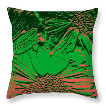 Abstract Flowers 1 Throw Pillow