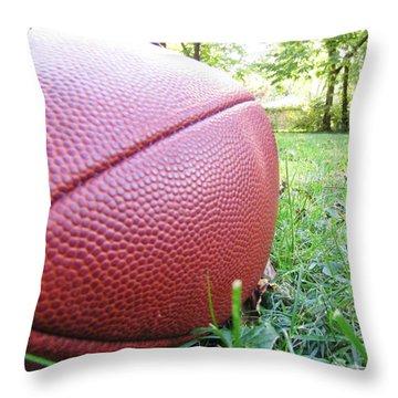 Backyard Football Throw Pillow