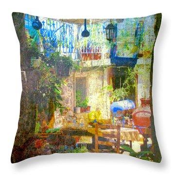Backyard Idyll Throw Pillow by Andreas Thust