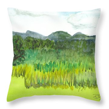 Backyard In Barton Throw Pillow by Donna Walsh