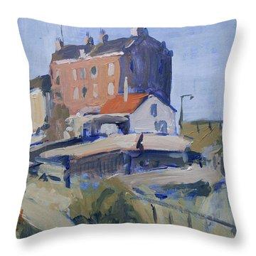 Backyard Spaarndammerdijk Throw Pillow