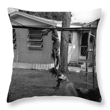 Backyard Swing Set..... Throw Pillow by WaLdEmAr BoRrErO