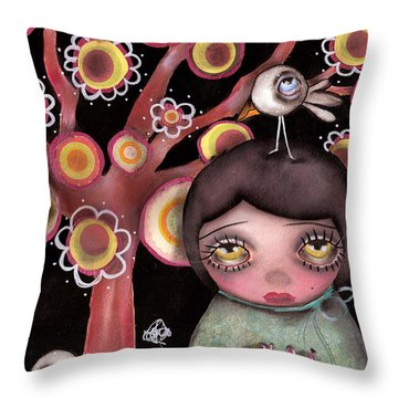 Backyard Tree Throw Pillow