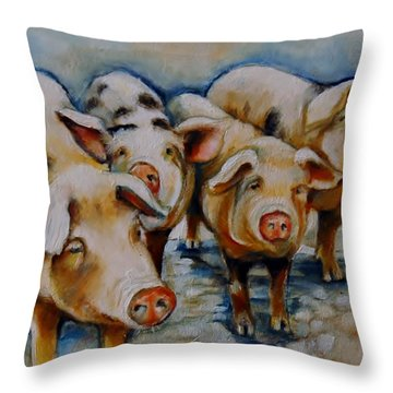 Bacon Beauties Throw Pillow by Jean Cormier